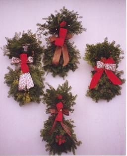 christmas door swag view images